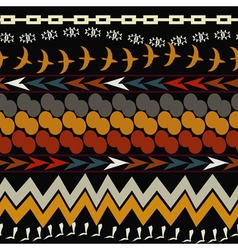 Seamless ethnic pattern Tribal style vector image vector image
