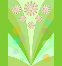 spring background with cute yellow flowers vector image