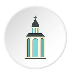 church icon circle vector image