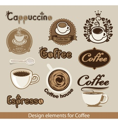 coffee design element vector image vector image