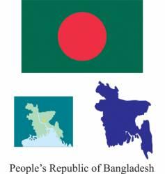 peoples republic of bangladesh flag vector image vector image