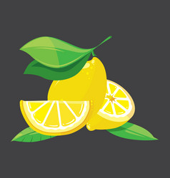 bright lemons vector image