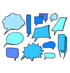 bubbles blue drawn element vector image