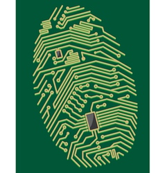 circuit fingerprint vector image