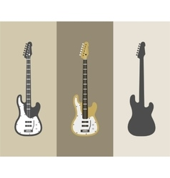 Electric guitar icons set Guitar isolated vector image