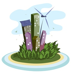 energy city vector image vector image