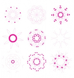 floral and ornamental elements set vector image vector image