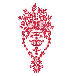 Floral design element with basket vector image