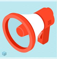 megaphone isometric icon vector image