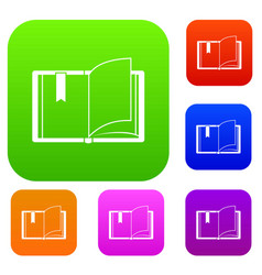 open book set collection vector image
