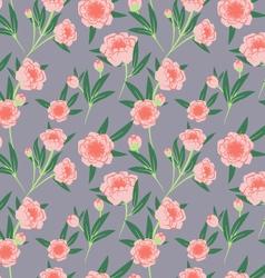 peony seamless pattern vector image