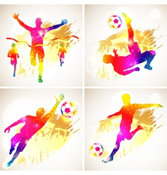 Soccer and Winner Silhouette vector image