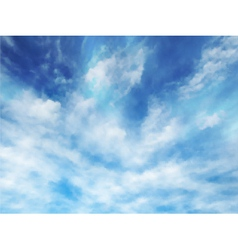 Wispy clouds vector image