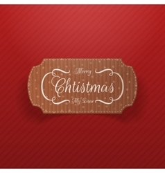 Christmas realistic cardboard Banner vector image vector image