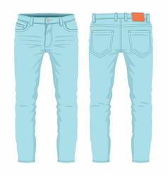 mens light blue jeans vector image vector image