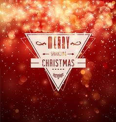 Merry sparkling christmas vector