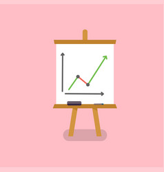 Office white board in flat style vector