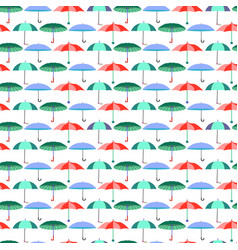 pattern with umbrellas in flat style vector image