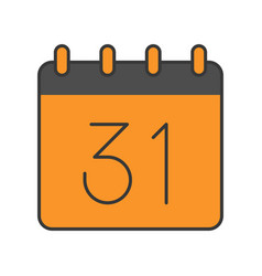 31 october calendar halloween related icon filled vector