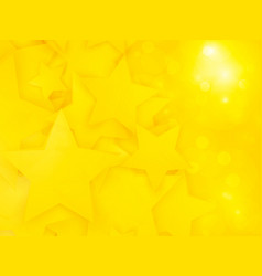 abstract party pattern with yellow stars vector image