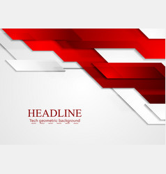 Abstract red grey tech corporate background vector