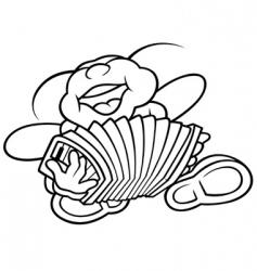 accordion vector image