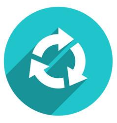 arrow sign repetition icon circle button vector image
