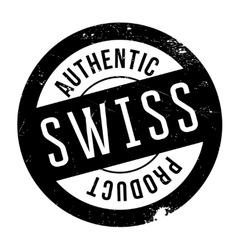 Authentic swiss product stamp vector