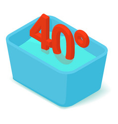 basin 40 degrees icon isometric 3d style vector image