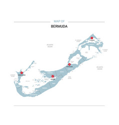 Bermuda map with red pin vector