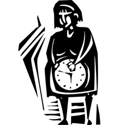 Biological clock vector