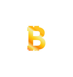 bitcoin crypto currency logo icon isolated on vector image
