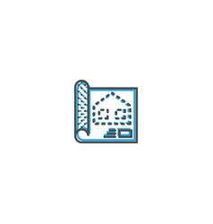 blue print icon design essential icon vector image