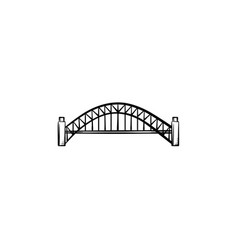 bridge hand drawn outline doodle icon vector image