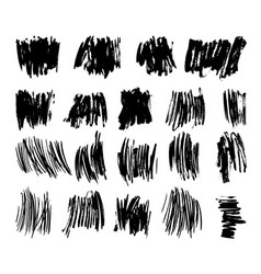 Brushed stains set vector