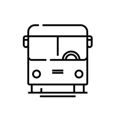 bus line icon concept sign outline vector image
