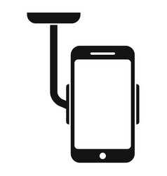 Car phone holder icon simple style vector