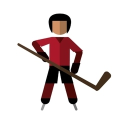 character hockey player skating vector image