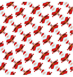 christmas seamless pattern with funny santa claus vector image