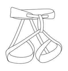Climbing strapping insurancemountaineering vector