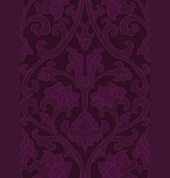 dark floral pattern vector image