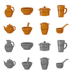 Design pottery and ware sign collection vector