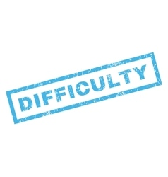 Difficulty Rubber Stamp vector