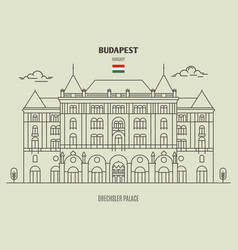 Drexhsler palace in budapest vector
