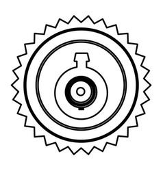 Emblem computer camera icon vector