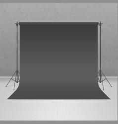 Empty black photo studio vector