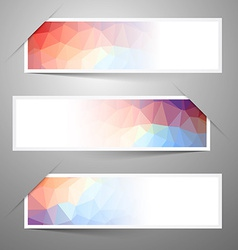 Empty Paper Label - Sticker with Triangles vector image