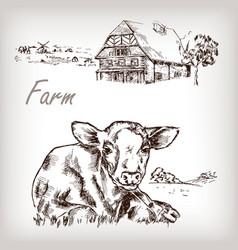 Farm set vector