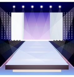 Fashion runway poster vector image