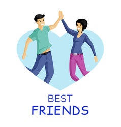 friends smiling people flat vector image